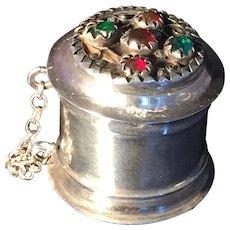 Antique solid silver box. Karlskrona, Sweden 1854.