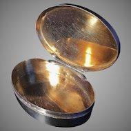 Solid silver snuff box. Swedish immigrant to US mid 1800s