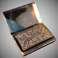 Excellent Solid Silver Vinaigrette. Thomas Lawrence, Birmingham 1836.