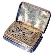 Solid Silver Vinaigrette. Joseph Wilmore Birmingham 1831