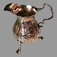 Very rare 1779 solid silver Cream Jug. Nathaniel Appleton & Anne Smith, London