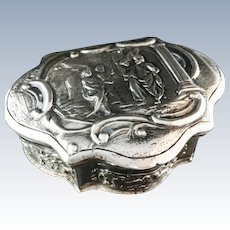 1770 Solid Silver Dutch, Amsterdam Snuff Box. Extremely rare. Superb Condition.