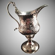 Charles Hougham 1784 London. Sterling Silver Milk Jug. Excellent.
