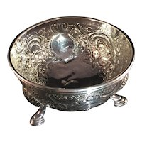 18th c London Sterling Silver Sugar Bowl.