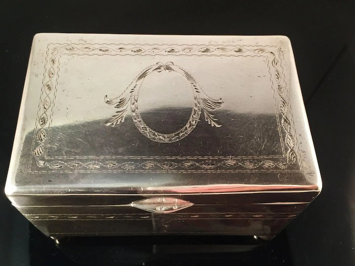 Large 1920s Jewelry Box Casket Fully Hallmarked Warsaw Poland c