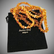 2 Baltic Amber Necklaces. 1970s