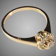 Vintage 18K Gold Carmosé Ring. Maker: much sought after ALTON 1976, Sweden.