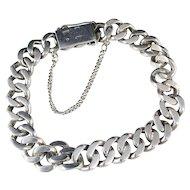 Vintage 1948 Massive Silver Bracelet: JL Hultman, Stockholm Sweden.