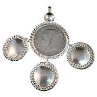 Large Sterling Silver Pendant aka Trillekors. Sweden 1924 / 1977