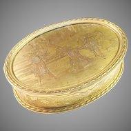French Antique Victorian La Belle Époque Bronze Jewelry Casket Dresser Box. Large.
