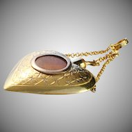Antique Regency 1803-1824 Gustaf Otto Sjöberg, Sweden 18k Gold Pendant with Hair Locket. Wow.