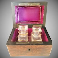 French late 1800s Perfume Bottles in original Case. Wow.