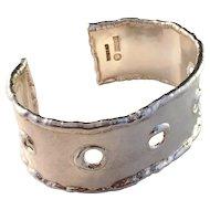 Large Sterling Silver Bangle Bracelet. Sweden by NOKO 1973-1979. Excellent