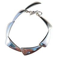 Hermann Siersbol, Denmark Modernist Sterling Silver Bracelet.