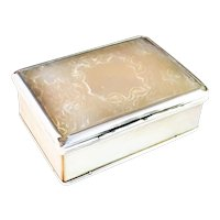 Stunning mid 1700s sterling silver and mother of pearl box. Very rare.
