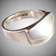 Vintage Lapponia Björn Weckström 1983 Sterling Silver Ring. Size 10