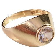 18k Gold and Rock Crystal Ring. Famous Alton, Sweden 1968.
