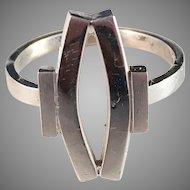 Elon Arenhill, Sweden 18k White Gold Ring. Modernist. Signed. 6.5gram