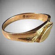 Famous Evir Design, 18k Gold Ring, Falköping Vintage 1983.