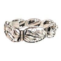Renowned KAPLAN, Stockholm. Vintage 1954 Solid Silver Bracelet. Excellent. 1.24oz