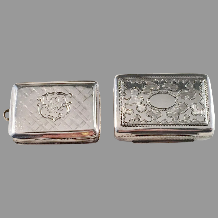 Two Antique Sterling Silver