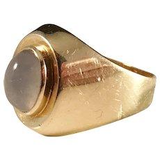 18k Gold Moonstone ring. Johan Pettersson, Stockholm 1955, Mid Century.