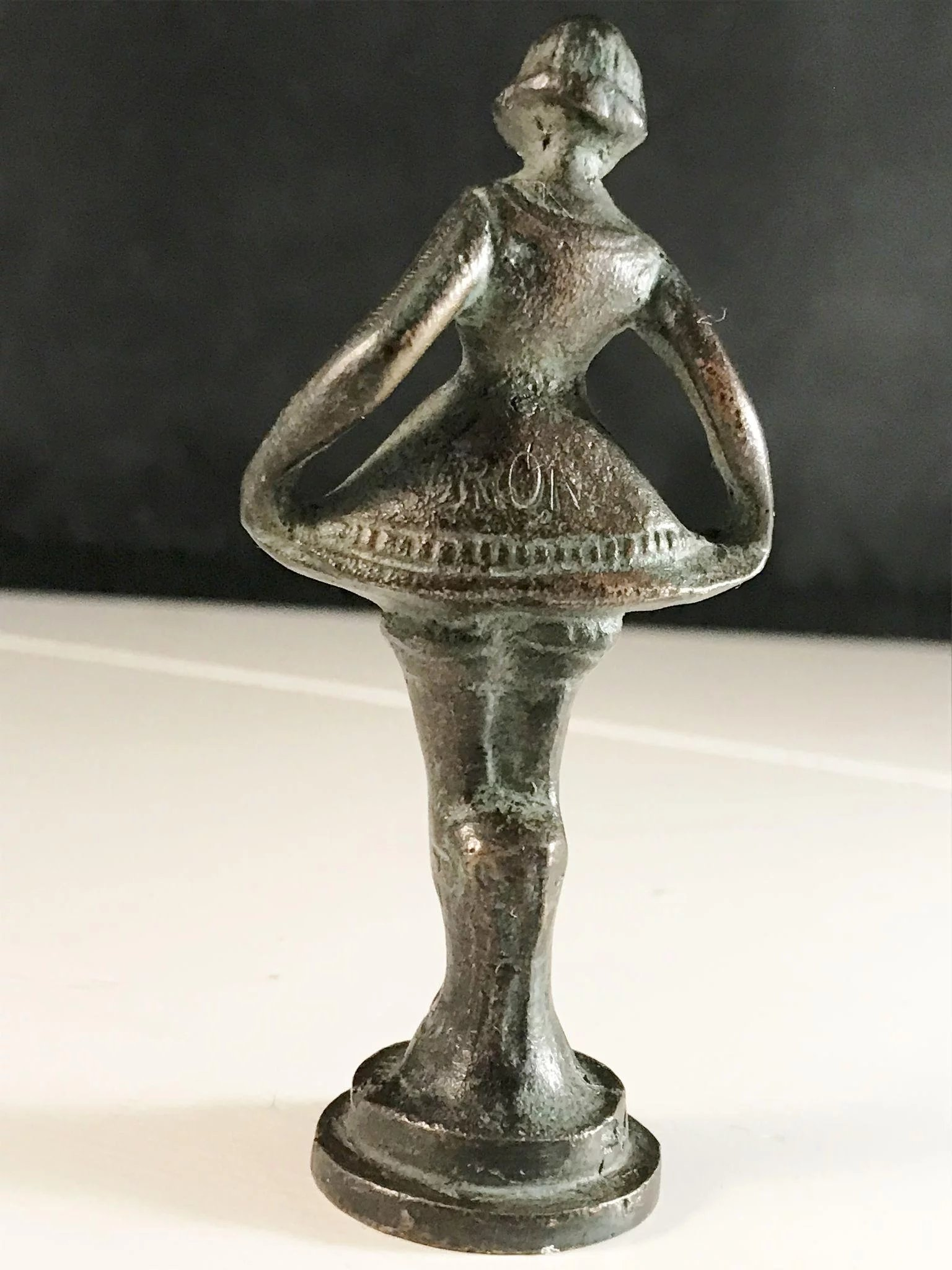 french ballerina bronze wax seal    desk stamp mid to late