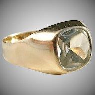 18k Gold Rock Crystal Ring Johan Pettersson, Stockholm 1963.