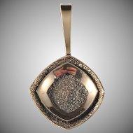 KE Palmberg for Alton Modernist Bronze Pendant. Marked and Signed.