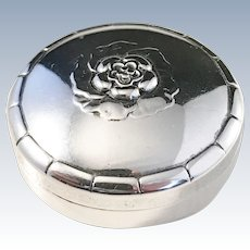 Georg Jensen, Denmark year 1920 Design no 79 Sterling Silver Pill box. Rare.