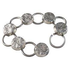 Massive 1.9oz Ceson, Sweden Modernist year 1969 Solid Silver Bracelet.