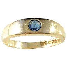 Lars Rosengren, Stockholm 18k Gold Sapphire Ring. Mid Century year 1954. 6.2gram