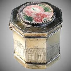 Anders Larsson, Sweden year 1875. Solid Silver Vinaigrette Scent Box. Very rare.