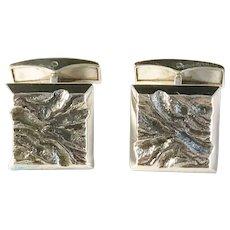Eino Rasanen, Finland year 1971 Modernist Brutalist Solid Silver Cufflinks.