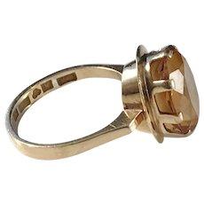 Bengt Hallberg, Sweden year 1965 Citrine 18k Gold Ring.