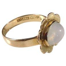 Gunnar Bohlin, Sweden year 1955 Mid Century 18k Gold Moonstone Ring.