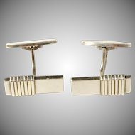 Georg Jensen Sterling Cufflinks Design No. 80 by Harald Nielsen. 1940s, Art Deco Design