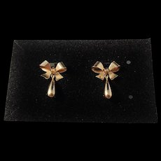 Guldvaruhuset, Sweden year 1953, Mid Century 18k Gold Earrings. Excellent.