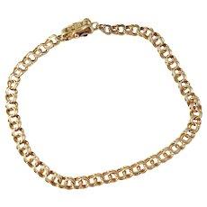 Vintage Heden Brothers, Sweden 18k Gold Bismarck Link Bracelet.