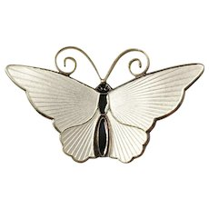 Vintage Sought After David Andersen, Norway Sterling Silver Enamel Butterfly Brooch. Excellent.
