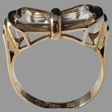 Juvelfabriken, Stockholm year 1950 Mid Century 18k Gold Rock Crystal Ring. 5.7gram