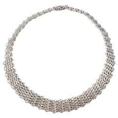 SG Hellström signed and hallmarked, Sweden year 1961 Solid Silver Necklace in original Retailer Box. 2.3oz