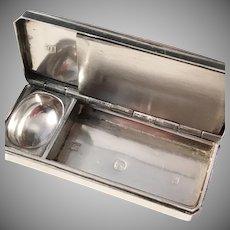 Very Rare Novelty French Victorian Sterling Silver Vesta Case.