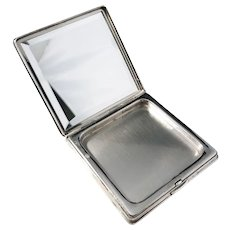 German 835 Silver 1940s Compact. Swedish Import.