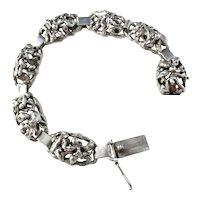 Sought After Aage Weimar, Copenhagen Denmark 1940s Solid Silver Organic Bracelet.