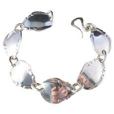 Massive 2.5oz Solid Silver Unisex Bracelet. Made from 1800s Cutlery, made by Bo Ekström, Sweden early 1990s.