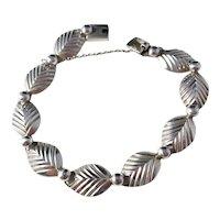 Demark, Maker NE FROM Mid Century Sterling Silver Bracelet.