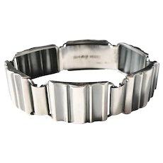 Ceson, Sweden year 1951 Mid Century Modern Solid Silver Bracelet.