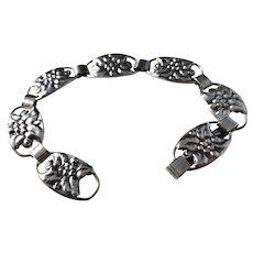Ove Klarskov, Denmark Mid Century 1950s Solid Silver Bracelet.