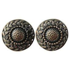 Pentti Sarpaneva Finland. Modernist Bronze 1960s Earrings.